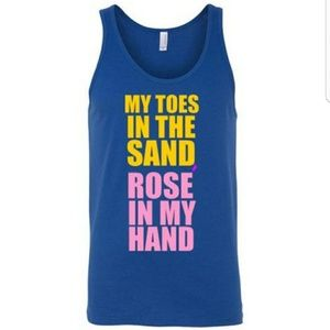 My Toes in the Sand Rose In My Hand Funny Tank Top